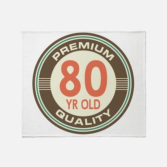 80th Birthday Vintage Throw Blanket
