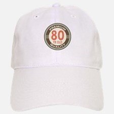 80th Birthday Vintage Baseball Baseball Cap