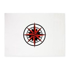 compass rose.png 5'x7'Area Rug