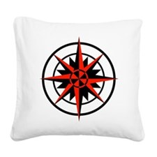 compass rose.png Square Canvas Pillow