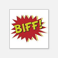 Cool retro comic book BIFF! design Sticker