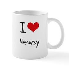 I Love Newsy Mug