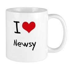 I Love Newsy Small Mug