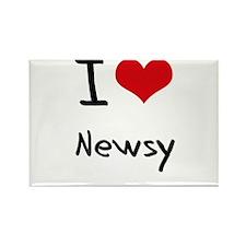 I Love Newsy Rectangle Magnet