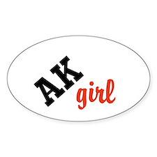 AK girl Decal