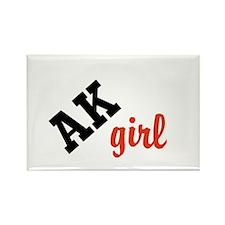 AK girl Rectangle Magnet