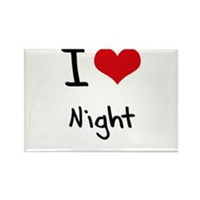 I Love Night Rectangle Magnet