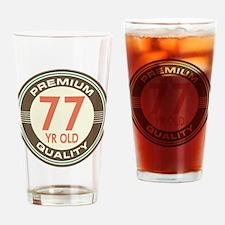 77th Birthday Vintage Drinking Glass