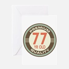 77th Birthday Vintage Greeting Card