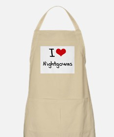 I Love Nightgowns Apron