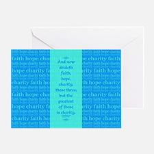 Faith Hope Charity Greeting Card