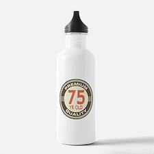 75th Birthday Vintage Water Bottle