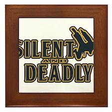 Silent and DEADLY Framed Tile