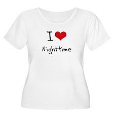 I Love Nighttime Plus Size T-Shirt