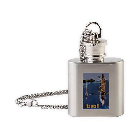 Vintage Hawaii Boat Travel Flask Necklace