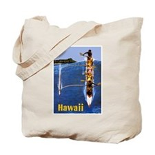 Vintage Hawaii Boat Travel Tote Bag