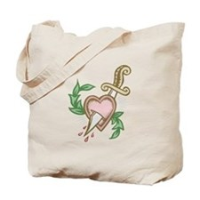 Sword Heart Tattoo Tote Bag