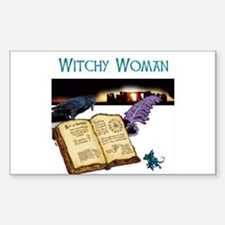 Witchy Woman too Rectangle Decal
