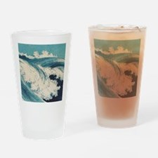 Vintage Waves Japanese Woodcut Ocean Drinking Glas