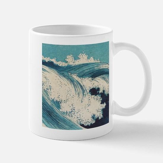Vintage Waves Japanese Woodcut Ocean Mug