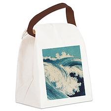Vintage Waves Japanese Woodcut Ocean Canvas Lunch