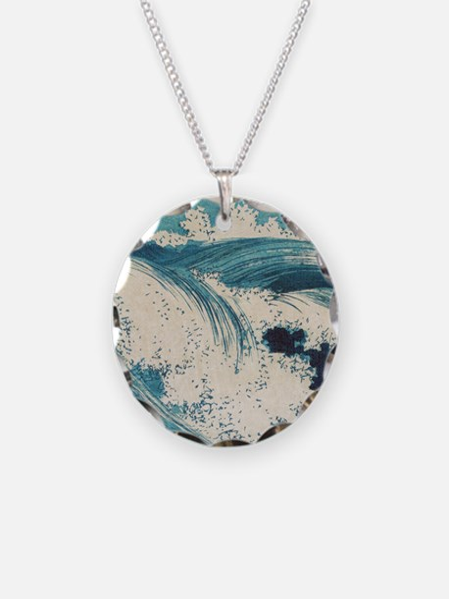 Vintage Waves Japanese Woodcut Ocean Necklace