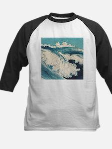 Vintage Waves Japanese Woodcut Ocean Baseball Jers