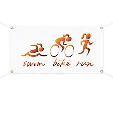 Swim Bike Run (Gold Girl) Banner