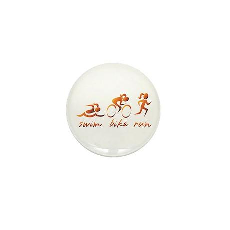 Swim Bike Run (Gold Girl) Mini Button (10 pack)