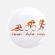 """Swim Bike Run (Gold Girl) 3.5"""" Button"""