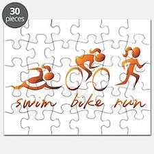 Swim Bike Run (Gold Girl) Puzzle