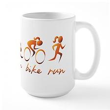 Swim Bike Run (Gold Girl) Mug