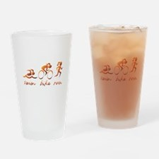 Swim Bike Run (Gold Girl) Drinking Glass