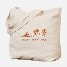 Swim Bike Run (Gold Girl) Tote Bag