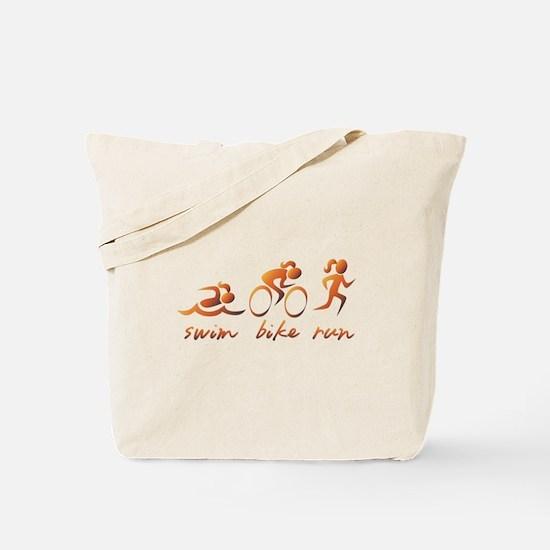 Swim Bike Run (Gold Girl) Tote Bag