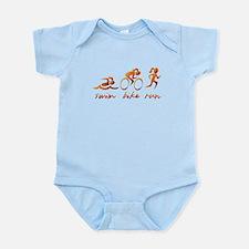 Swim Bike Run (Gold Girl) Infant Bodysuit
