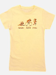 Swim Bike Run (Gold Girl) Girl's Tee