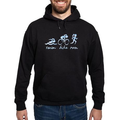 Swim Bike Run (Girl) Hoodie (dark)