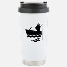 Shark Fishing (for lights)(txt) Travel Mug