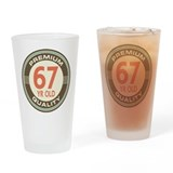 67 birthday Drinking Glass