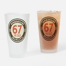 67th Birthday Vintage Drinking Glass