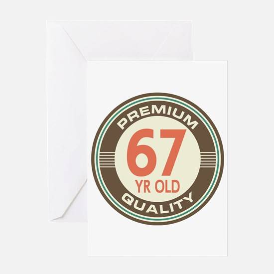 67th Birthday Vintage Greeting Card