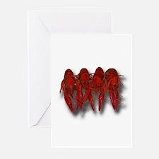 Cooked Crawfish Logo Greeting Cards (Pk of 10)