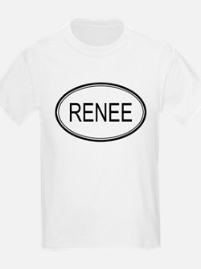Renee Oval Design Kids T-Shirt
