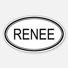 Renee Oval Design Oval Decal