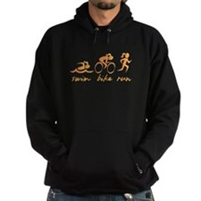 Swim Bike Run (Girl) Hoodie