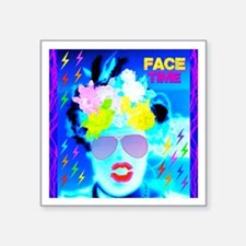 "X-Ray Drag Diva SisterFace Square Sticker 3"" x 3"""