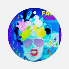 X-Ray Drag Diva SisterFace Ornament (Round)