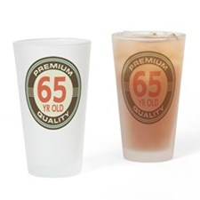 65th Birthday Vintage Drinking Glass