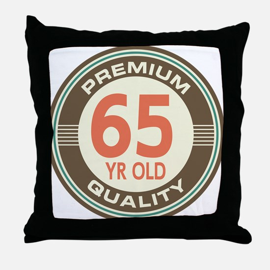 65th Birthday Vintage Throw Pillow